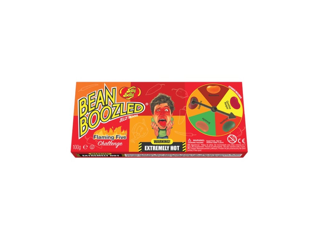 Jelly Belly Bean Boozled Flaming Five Spinner Game 100g