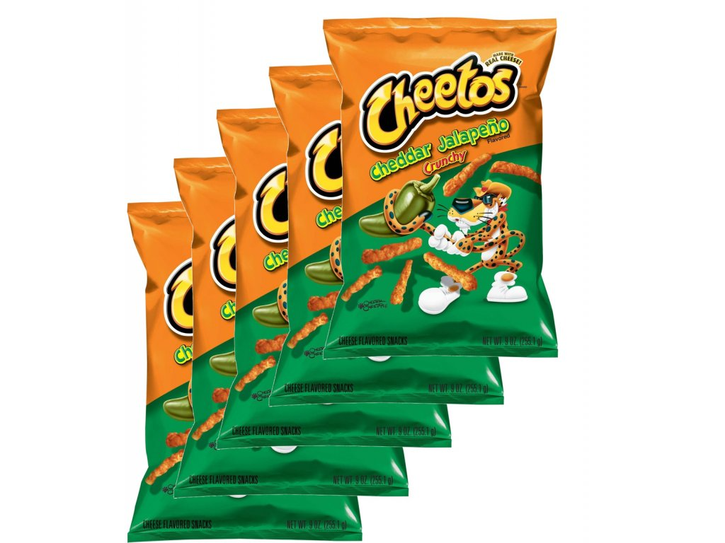 Cheetos Crunchy Cheese Jalapeno Party Pack 5x 226g
