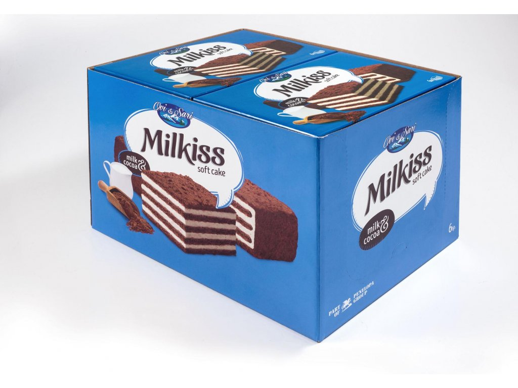 Milkiss Soft Cake Milk & Cocoa karton 15x 50g