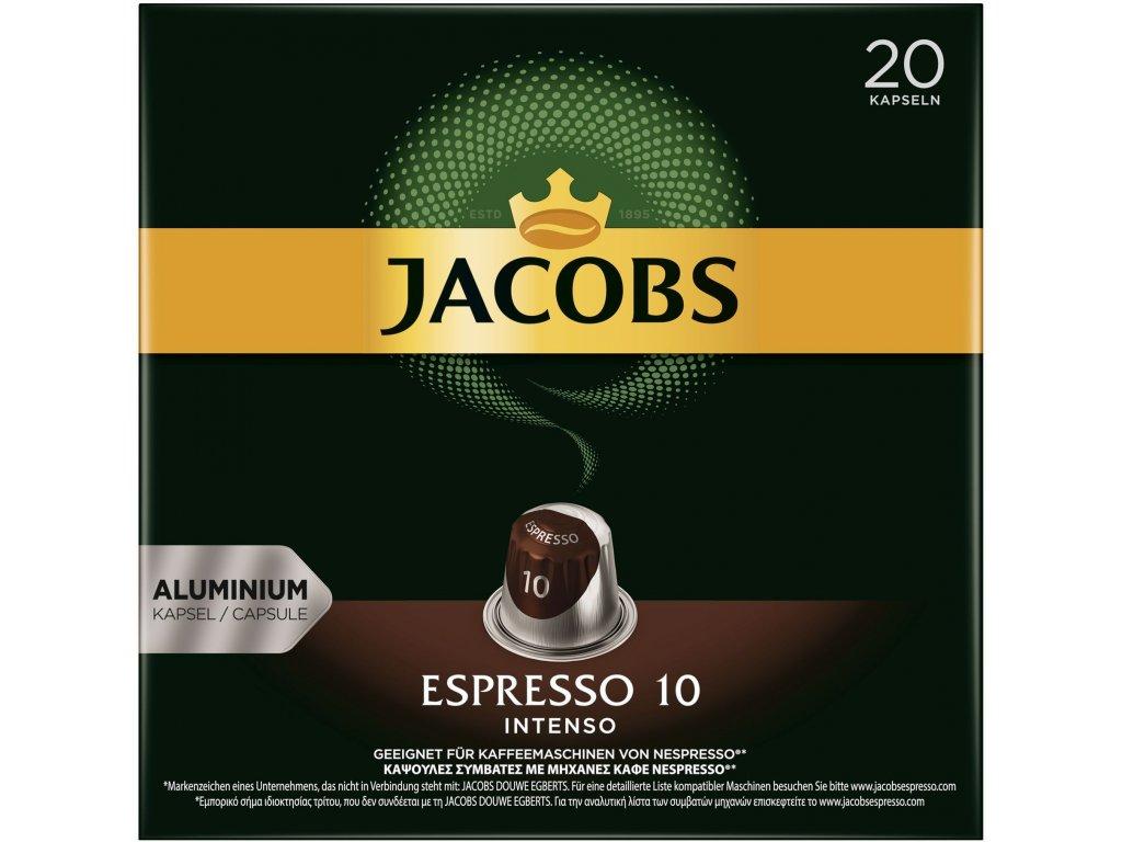 Jacobs Nespresso Espresso 10 Intenso Capsules 20pcs 104g