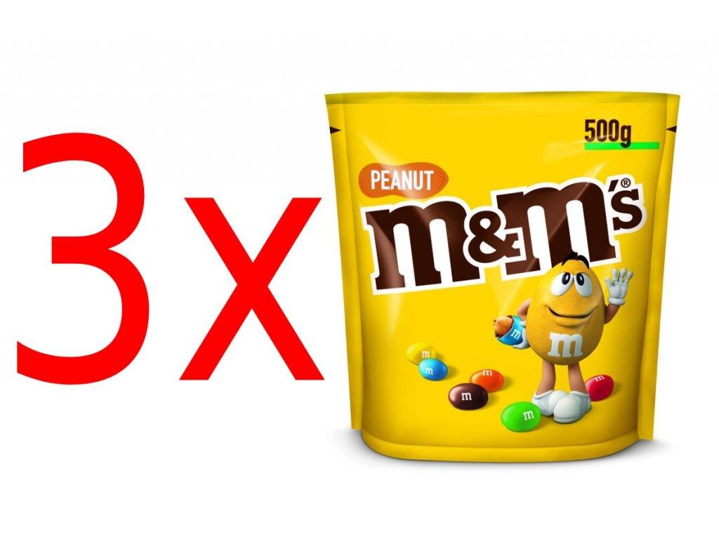 M&m peanut arašídové 3x 500g 01 (1)