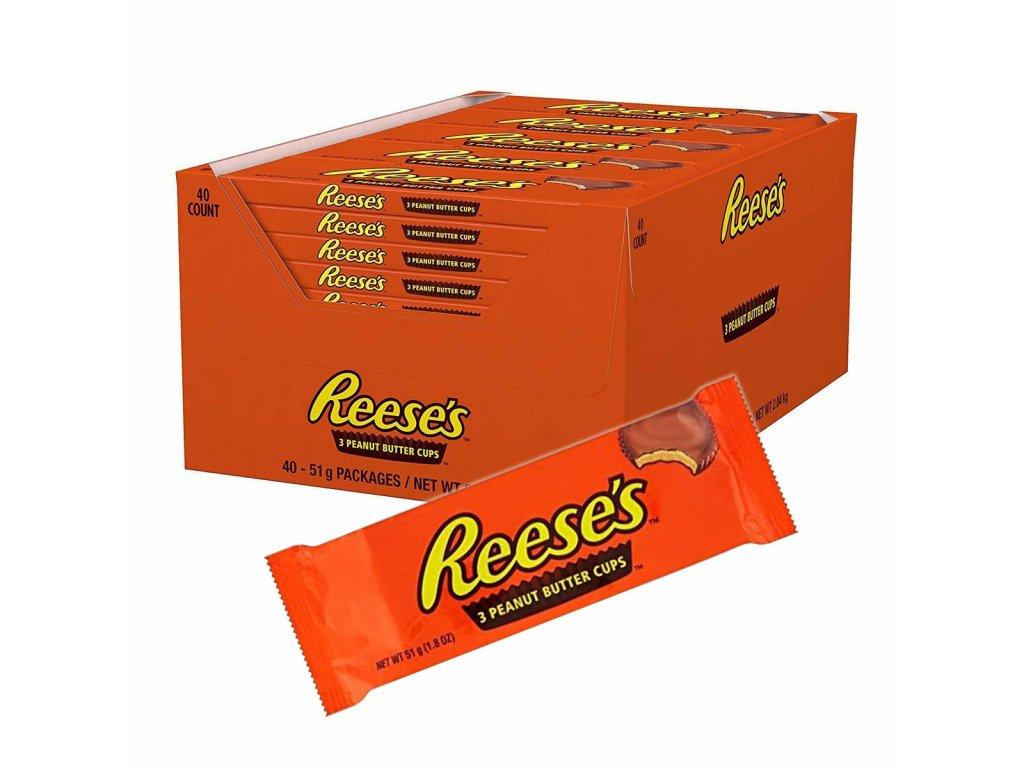 Reese's 3 Peanut Butter Cups karton 40x 51g
