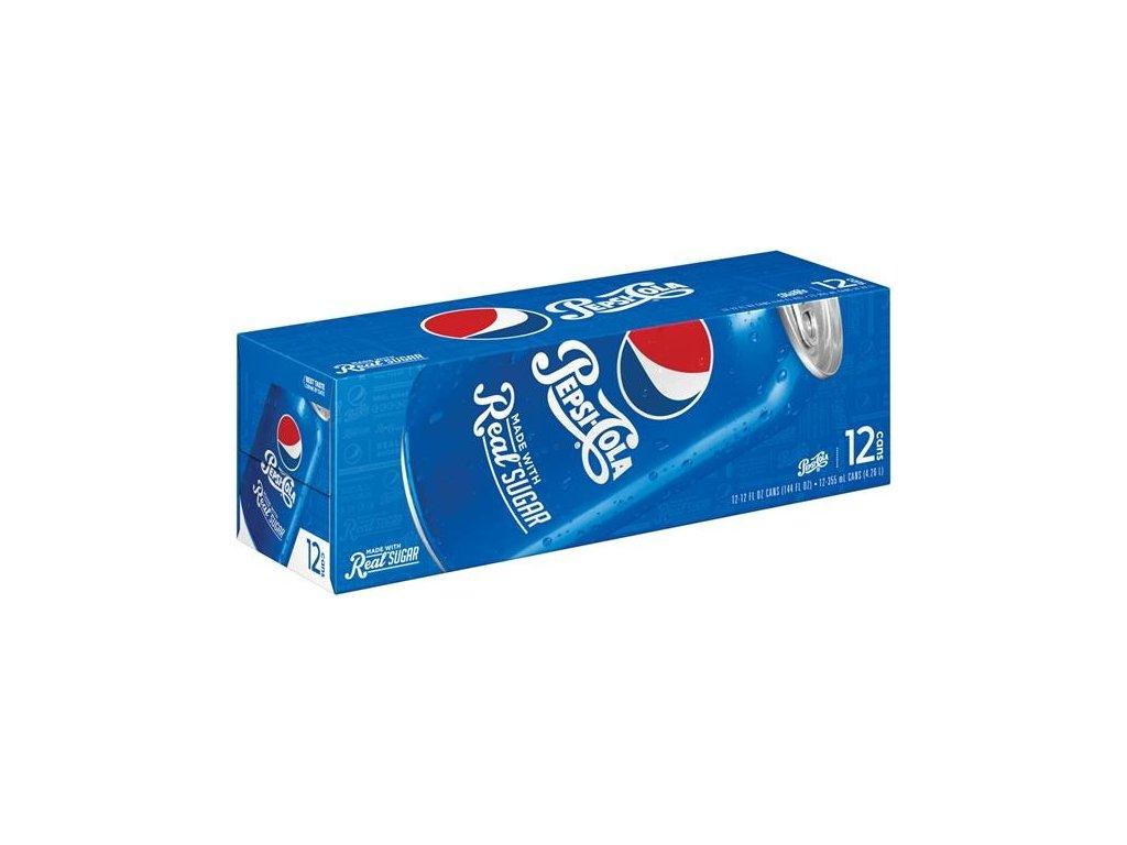Pepsi Cola Real Sugar USA karton 12x 355ml