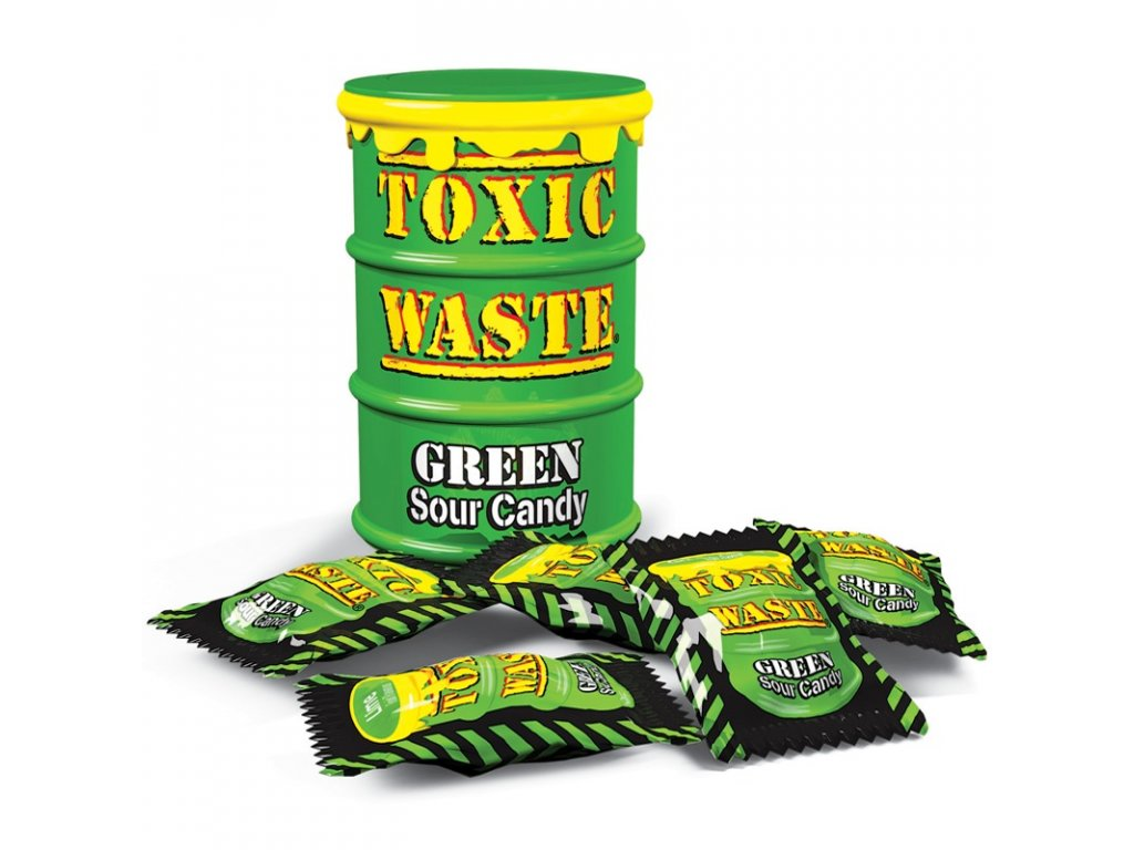 Toxic Waste Green Drum Extreme Sour Candy 42g