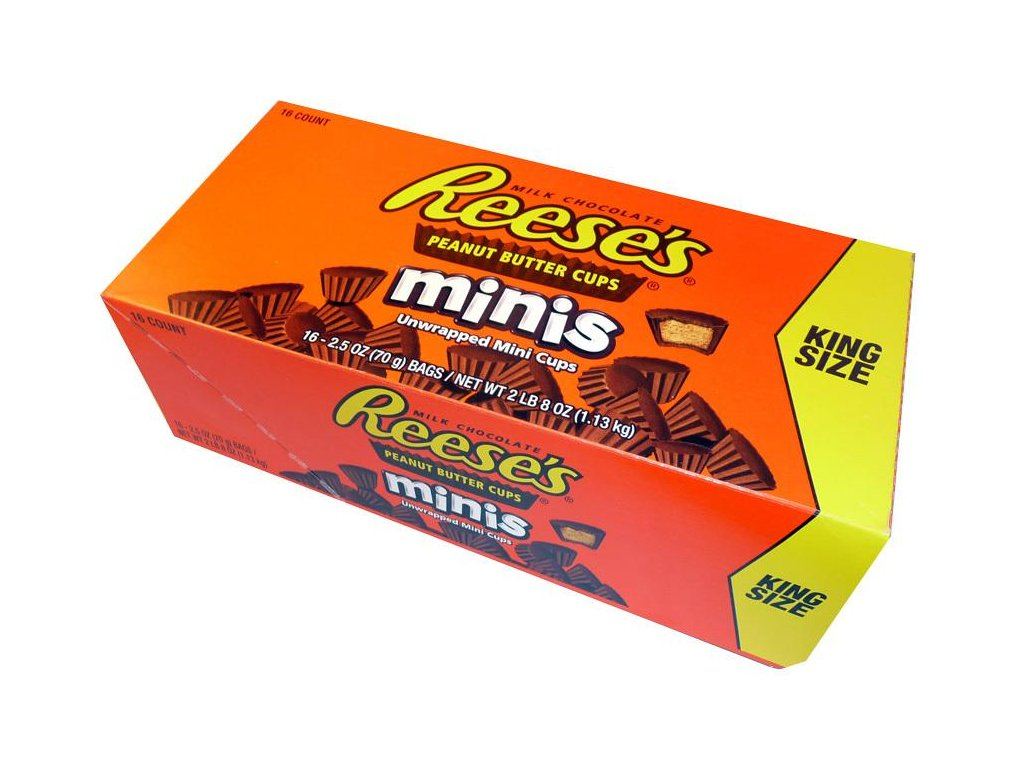 reese peanut butter cups minis king size karton