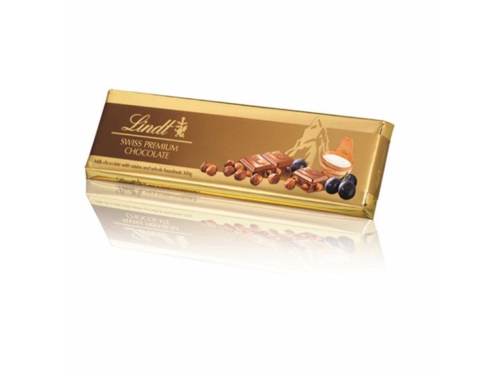 Lindt Gold Tablet Raisin Nut 300g