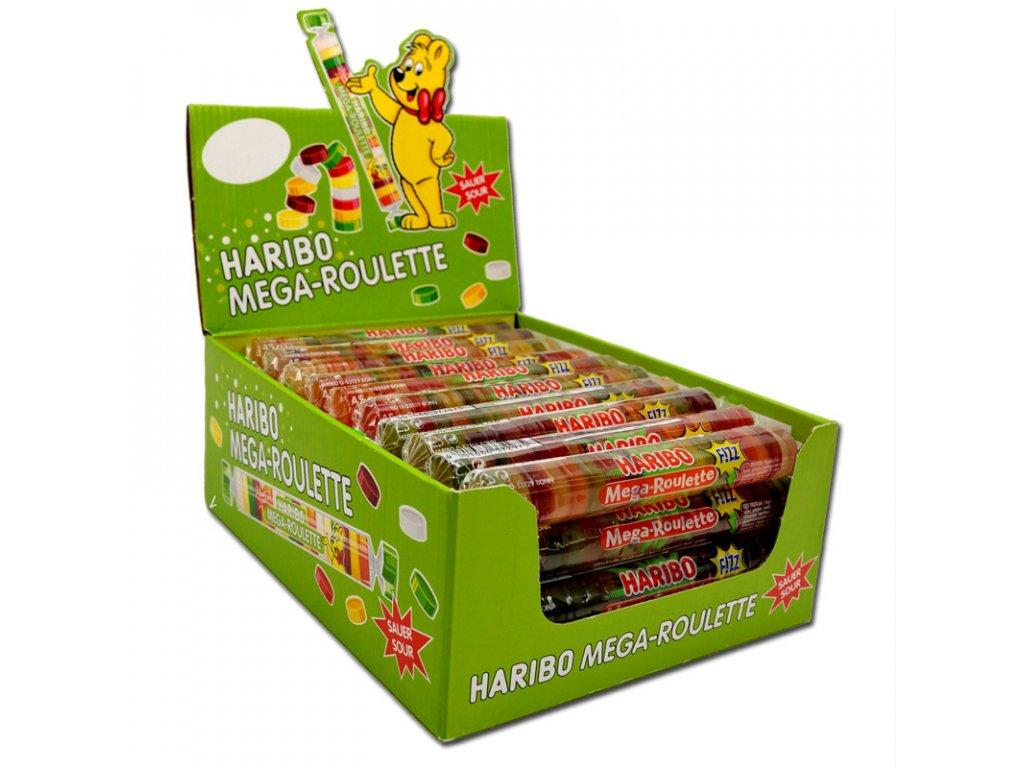 Haribo Mega Roulette Sauer Fizz karton 40x 45g