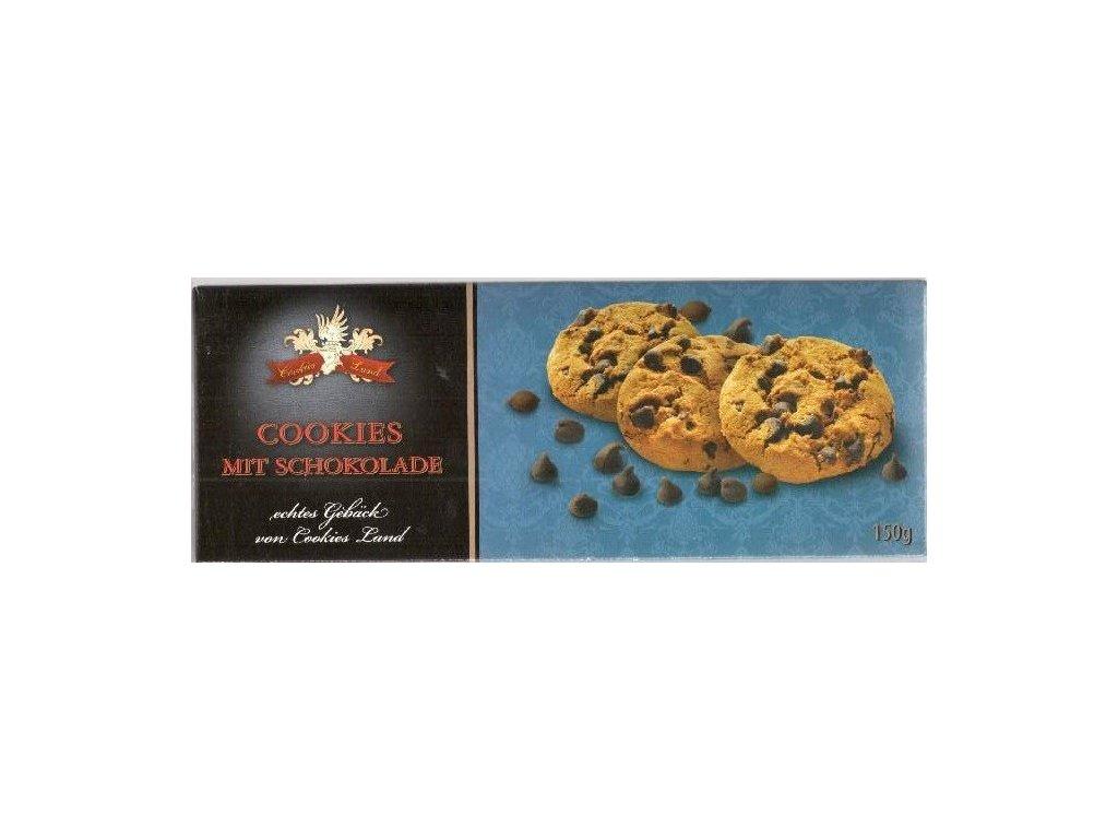 Cookiesland sušenky Schoko Cookies mit Schokolade 150g