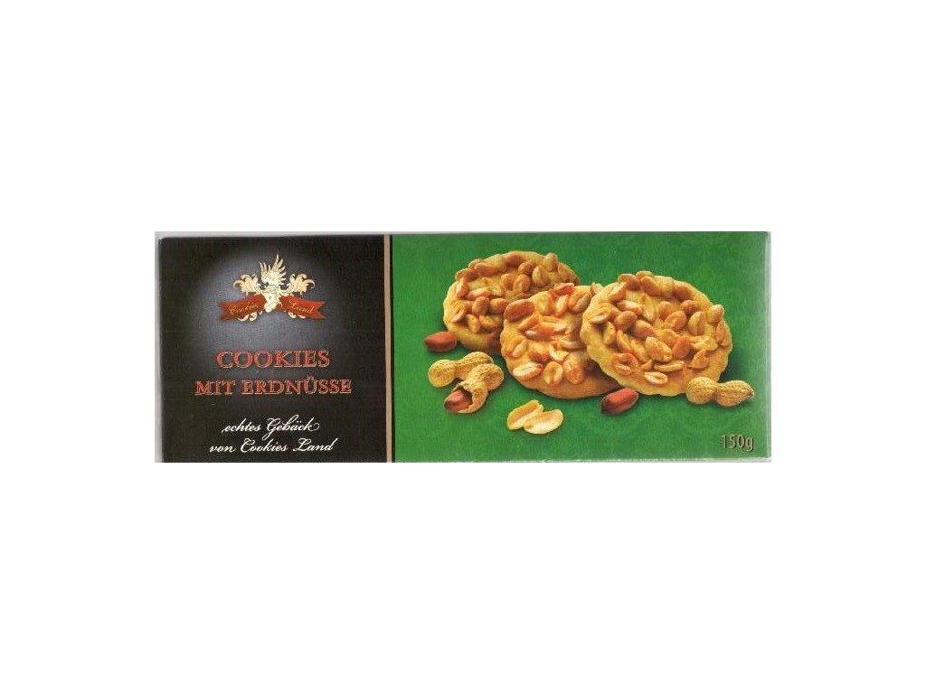 Cookiesland sušenky Erdnuss Cookies 150g