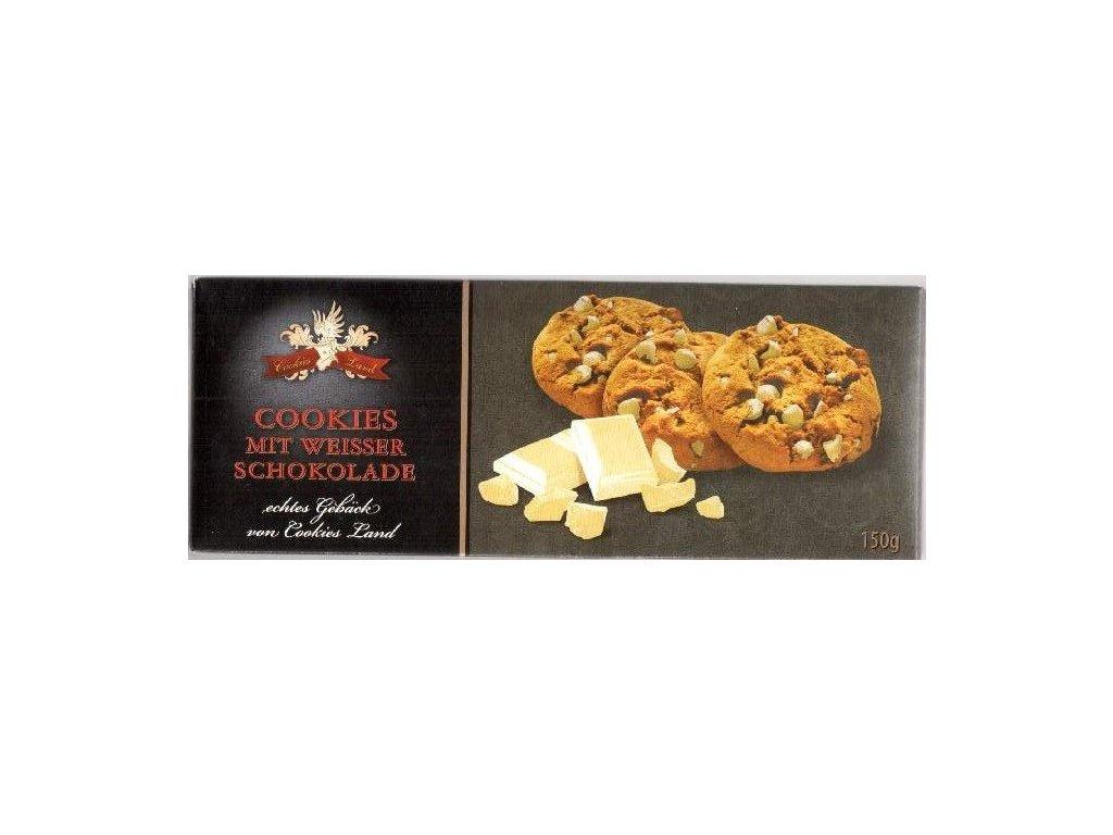 Cookiesland sušenky mit Weisser Schokolade 150g