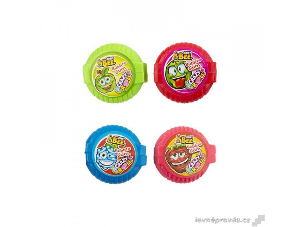Johny Bee Crazy Roll žvýkačka 18g - Strawberry