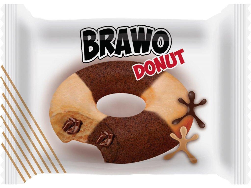 Brawo Donut mozaik - dvoubarevný s kakaovou náplní 50g