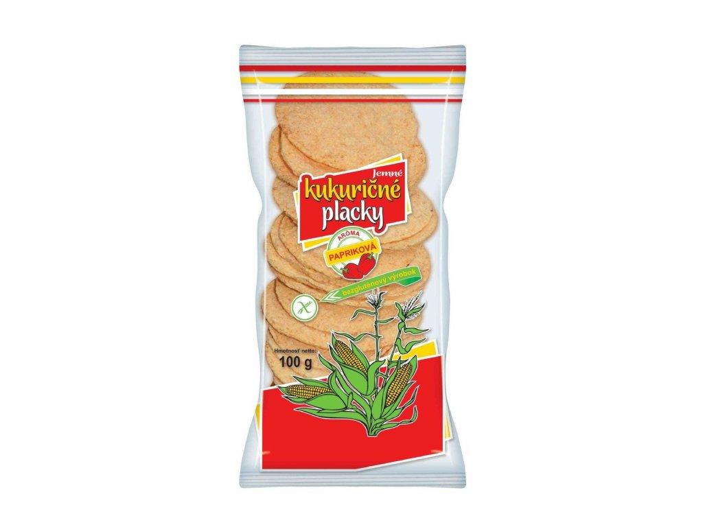 Kukuřičné placky paprikové 100g