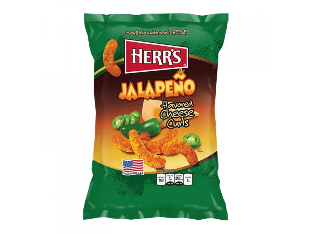 Herr's Jalapeno Poppers Cheese Curls 198g