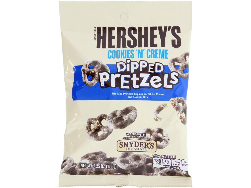 Hershey's Cookies 'n' Creme Dipped Pretzels by Snyders Pouch 120g