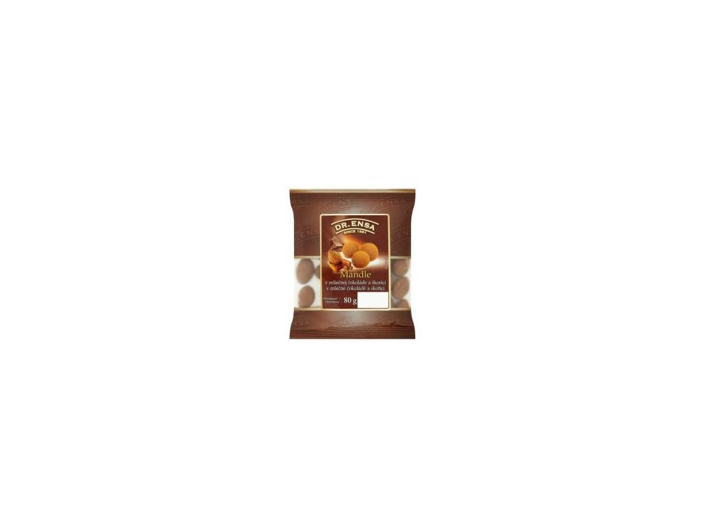 Dr.Ensa mandle pražené, solené v mléčné čokoládě 80g