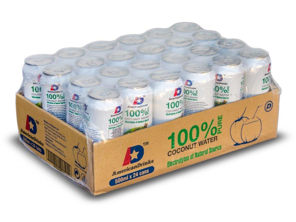 100% Pure Coconut Water karton 24x 500ml