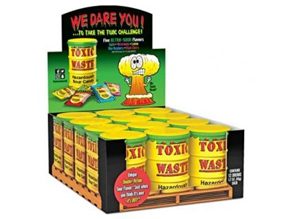 Toxic Waste Yellow Drum Extreme Sour Candy karton 12x 42g