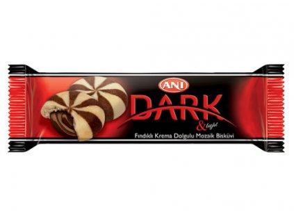 Dark & Light - dvoubarevné sušenky s čokoládovou náplní 44g