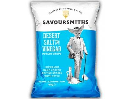 Savoursmiths Desert Salt & Vinegar bramborové lupínky 40g