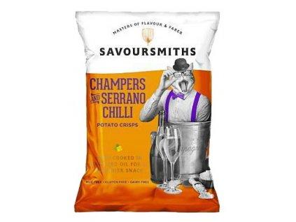 Savoursmiths Bubbly & Serrano Chilli bramborové lupínky 150g