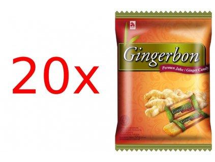 Stykra Gingerbon zázvorové bonbóny karton 20x 125g
