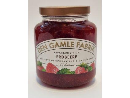 Den Gamble Fabrik - Erdbeere Fruchtaufstrich 380g - jahodová marmeláda