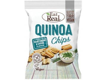 Eat Real Quinoa Chips zakysaná smetana pažitka 30g - AKCE