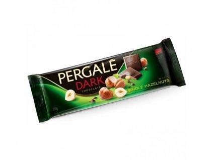 Pergale hořká čokoláda s celými lískovými oříšky 250g - AKCE