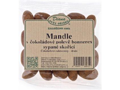 Mandle v mléčné čokoládě sypané skořicí 100g - AKCE