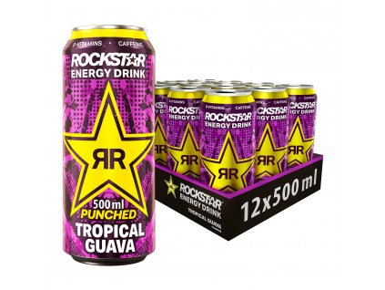 RockStar Punched Energy + Guava 12x 500ml