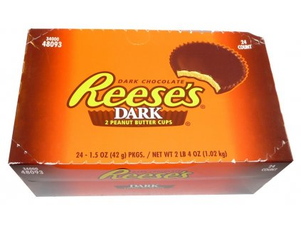 Reese's Dark Peanut Butter Cups karton 24x 39g - AKCE