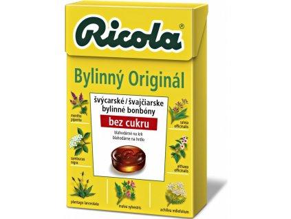 Ricola Bylinné bonbóny bez cukru Original, 40g