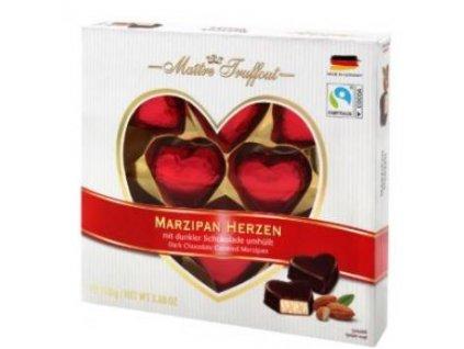 Maitre Truffout Marzipan Hearts 110g
