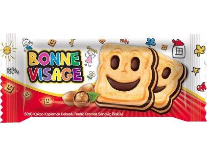 Bonne Visage - sušenky s lískooříškovým krémem 50g