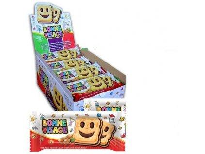 Bonne Visage - sušenky s lískooříškovým krémem karton 24x 50g