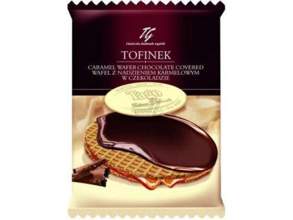 Tofinek - karamelová wafle v čokoládě 50g