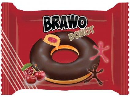 Brawo Donut polomáčený s náplní višňové příchutě 50g