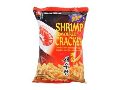 Nong Shim krevetové chipsy pálivé (Chip Tom Han Quoc) 75g