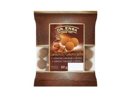 Dr.Ensa lísková jádra v mléčné čokoládě 80g