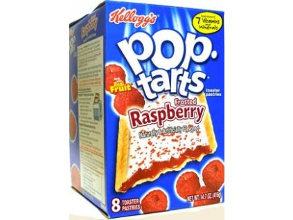 Kelloggs Frosted Raspberry Pop Tarts 8x 52g