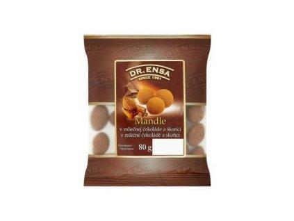 Dr.Ensa mandle pražené, solené v mléčné čokoládě 80g - AKCE