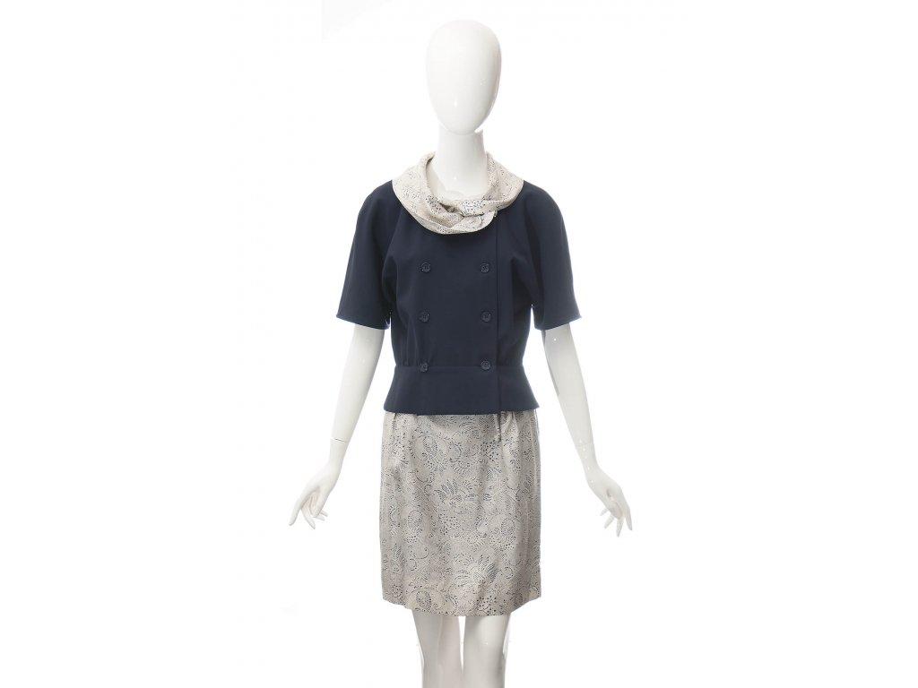 gucci vintage kostym vlna s hedvabim 1