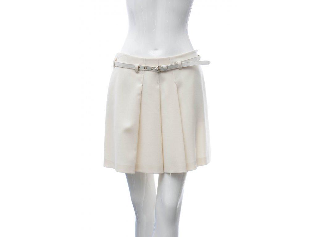 moschino bezova vlnena sukne 1