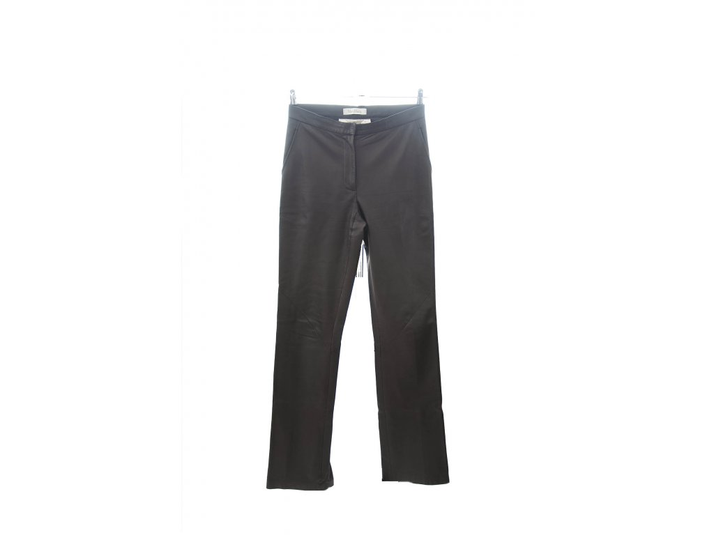 max mara hnede kozene kalhoty 1