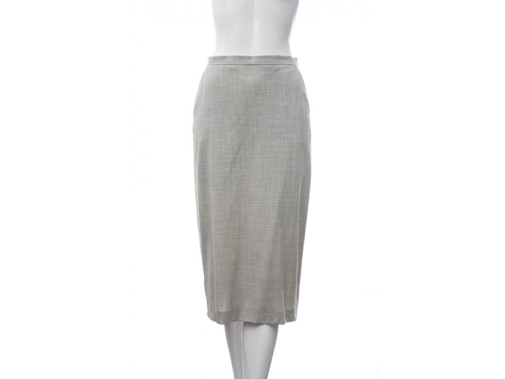max mara luxusni seda vlnena sukne 1
