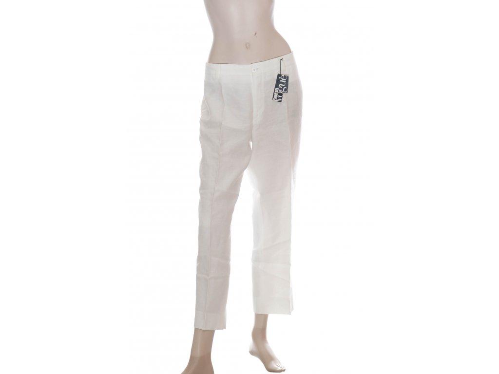 luxusni bile lnene kalhoty 1