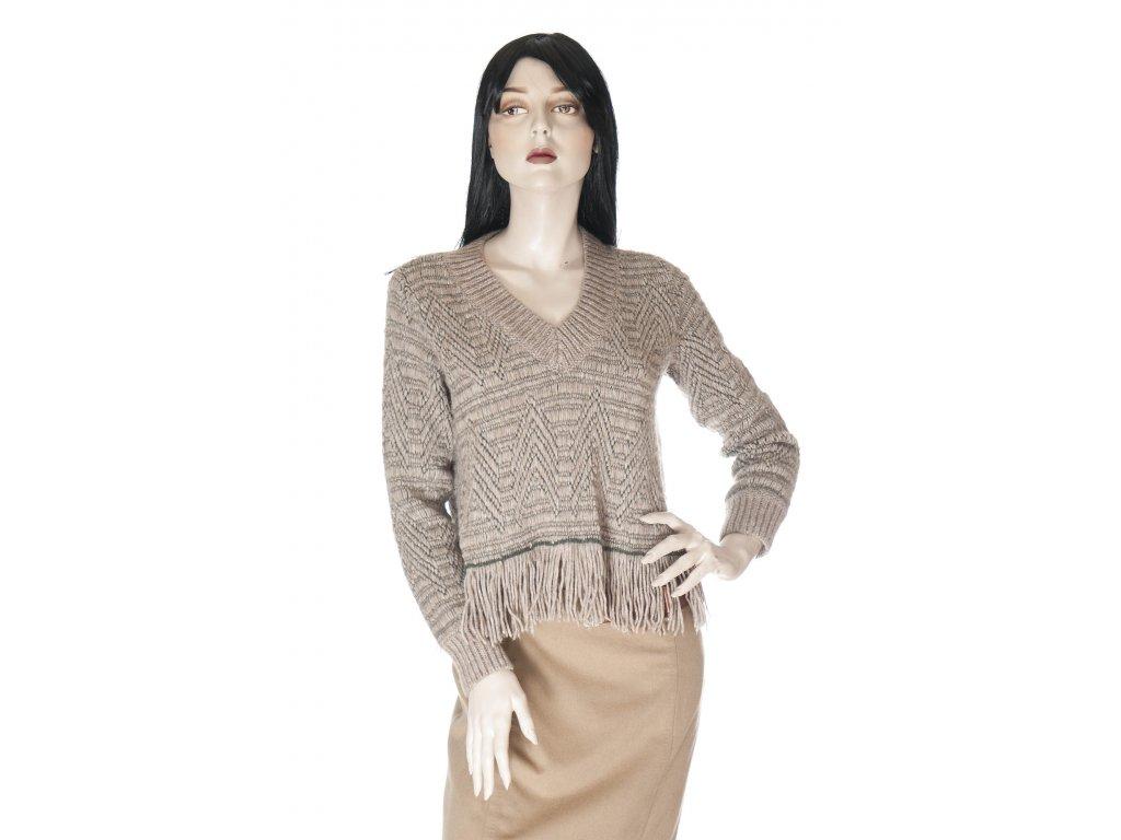 giorgio armani upletovy svetr v etno stylu 1
