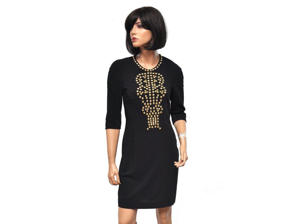 Úžasné šaty s kovonými cvoky v gladiátorském stylu Givenchy 36 1