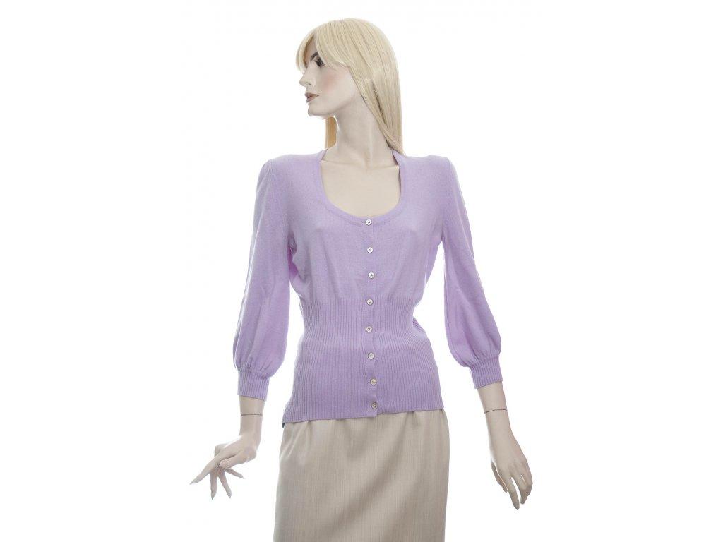 emilio pucci svetle fialovy kasmirovy svetr kardigan 1